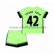 Manchester City Voetbaltenue Kind 2016-17 Toure Yaya 42 Third Shirt..