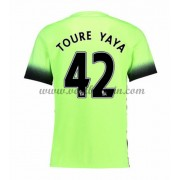 Premier League Voetbalshirts Manchester City 2016-17 Toure Yaya 42 Third Shirt..