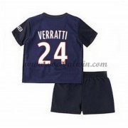 Paris Saint Germain PSG Voetbaltenue Kind 2016-17 Verratti 24 Thuisshirt..