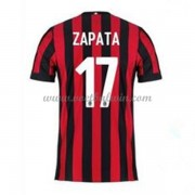 Series A Voetbalshirts AC Milan 2017-18 C. Zapata 17 Thuisshirt..