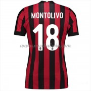Series A Voetbalshirts AC Milan 2017-18 Montolivo 18 Thuisshirt..
