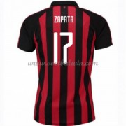 Serie A Voetbalshirts AC Milan 2018-19 Cristian Zapata 17 Thuisshirt..