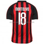 Serie A Voetbalshirts AC Milan 2018-19 Riccardo Montolivo 18 Thuisshirt..