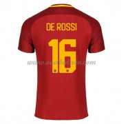 Series A Voetbalshirts AS Roma 2017-18 De Rossi 16 Thuisshirt..