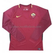Series A Voetbalshirts AS Roma 2017-18 Thuisshirt Lange Mouw..