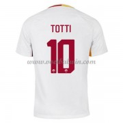Series A Voetbalshirts AS Roma 2017-18 Totti 10 Uitshirt..