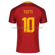 Series A Voetbalshirts AS Roma 2017-18 Totti 10 Thuisshirt..