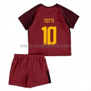 AS Roma Voetbaltenue Kind 2017-18 Totti 10 Thuisshirt..