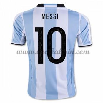 Goedkope Voetbalshirts Argentinië Elftal 2016 Lionel Messi 10 Thuis Tenue