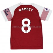 Arsenal Voetbaltenue Kind 2018-19 Aaron Ramsey 8 Thuisshirt..