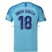 Atletico Madrid Voetbaltenue Kind 2018-19 Diego Costa 18 Uitshirt..