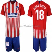 Atletico Madrid Voetbaltenue Kind 2018-19 Diego Costa 18 Thuisshirt..