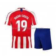 Atletico Madrid Voetbaltenue Kind 2019-20 Diego Costa 19 Thuisshirt..