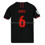 Atletico Madrid Voetbaltenue Kind 2019-20 Koke 6 Uitshirt..