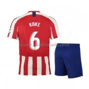 Atletico Madrid Voetbaltenue Kind 2019-20 Koke Merodio 6 Thuisshirt..