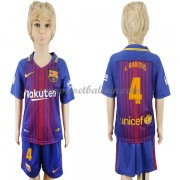 Barcelona Voetbaltenue Kind 2017-18 I. Rakitic 4 Thuisshirt..