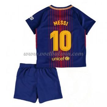 Barcelona Voetbaltenue Kind 2017-18 Lionel Messi 10 Thuisshirt