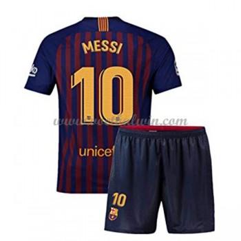 Barcelona Voetbaltenue Kind 2018-19 Lionel Messi 10 Thuisshirt