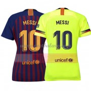 Barcelona Dames Voetbalshirts 2018-19 Lionel Messi 10 Thuisshirt..