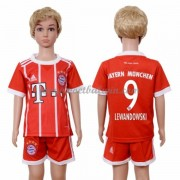 Bayern Munich Voetbaltenue Kind 2017-18 Robert Lewandowski 9 Thuisshirt..