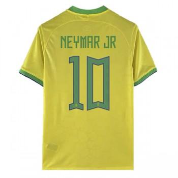 Goedkope Voetbaltenues Brazilië Elftal WK 2018 Neymar JR 10 Thuisshirt