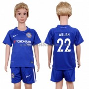 Chelsea Voetbaltenue Kind 2017-18 Willian 22 Thuisshirt..