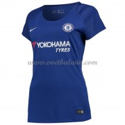 Chelsea Dames Voetbalshirts 2017-18 Thuisshirt..