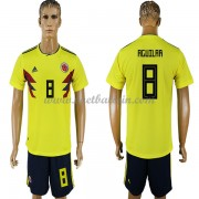 Goedkope Voetbaltenues Colombia Elftal WK 2018 Abel Aguilar 8 Thuisshirt..