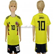 Colombia Elftal Voetbaltenue Kind WK 2018 James Rodriguez 10 Thuisshirt..