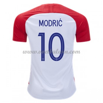 Goedkope Voetbaltenues Kroatië Elftal WK 2018 Luka Modric 10 Thuisshirt