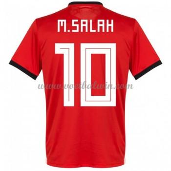 Goedkope Voetbaltenues Egypte Elftal WK 2018 Mohamed Salah 14 Thuisshirt