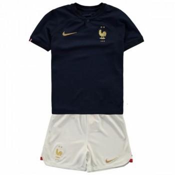 Frankrijk Elftal Voetbaltenue Kind WK 2018 Thuisshirt