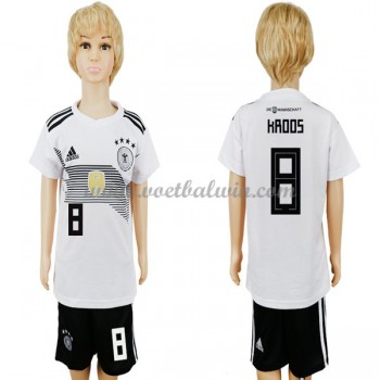 Duitsland Elftal Voetbaltenue Kind WK 2018 Toni Kroos 8 Thuisshirt