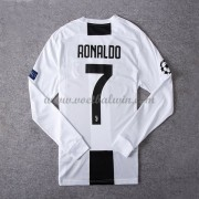 Serie A Voetbalshirts Juventus 2018-19 Cristiano Ronaldo 7 Thuisshirt Lange Mouw..