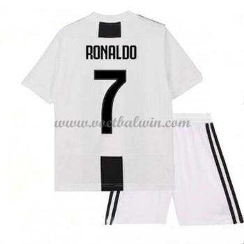 Juventus Voetbaltenue Kind 2018-19 Cristiano Ronaldo 7 Thuisshirt
