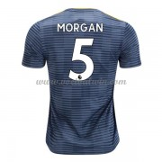 Premier League Voetbalshirts Leicester City 2018-19 Wes Morgan 5 Uitshirt..
