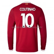 Premier League Voetbalshirts Liverpool 2017-18 Philippe Coutinho 10 Thuisshirt Lange Mouw..