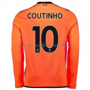 Premier League Voetbalshirts Liverpool 2017-18 Philippe Coutinho 10 Third Shirt Lange Mouw..