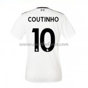Liverpool Dames Voetbalshirts 2017-18 Philippe Coutinho 10 Uitshirt..