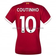 Liverpool Dames Voetbalshirts 2017-18 Philippe Coutinho 10 Thuisshirt..