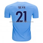 Premier League Voetbalshirts Manchester City 2017-18 David Silva 21 Thuisshirt..