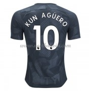 Premier League Voetbalshirts Manchester City 2017-18 Kun Aguero 10 Third Shirt..