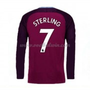 Premier League Voetbalshirts Manchester City 2017-18 Raheem Sterling 7 Uitshirt Lange Mouw..