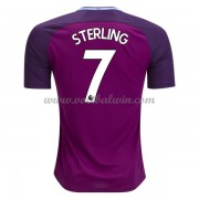 Premier League Voetbalshirts Manchester City 2017-18 Raheem Sterling 7 Uitshirt..