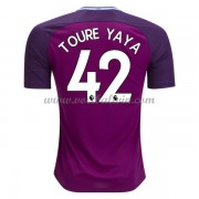 Premier League Voetbalshirts Manchester City 2017-18 Toure Yaya 42 Uitshirt..