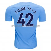Premier League Voetbalshirts Manchester City 2017-18 Toure Yaya 42 Thuisshirt..