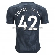 Premier League Voetbalshirts Manchester City 2017-18 Toure Yaya 42 Third Shirt..