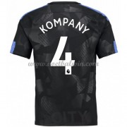 Premier League Voetbalshirts Manchester City 2017-18 Vincent Kompany 4 Third Shirt..