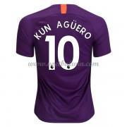 Premier League Voetbalshirts Manchester City 2018-19 Kun Aguero 10 Third Shirt..