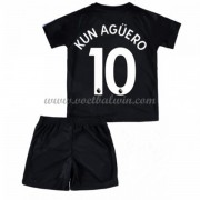 Manchester City Voetbaltenue Kind 2017-18 Kun Aguero 10 Third Shirt..